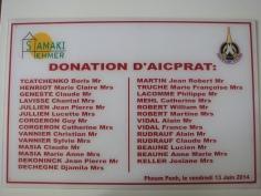 Plaque de donation